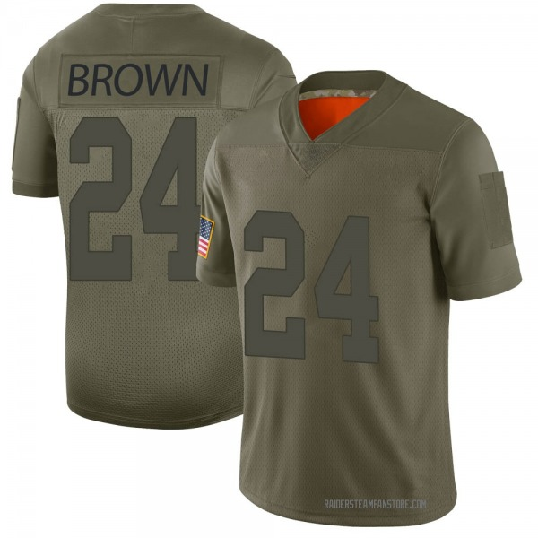 Men's Willie Brown Las Vegas Raiders Limited Camo 2019 Salute to Service Jersey