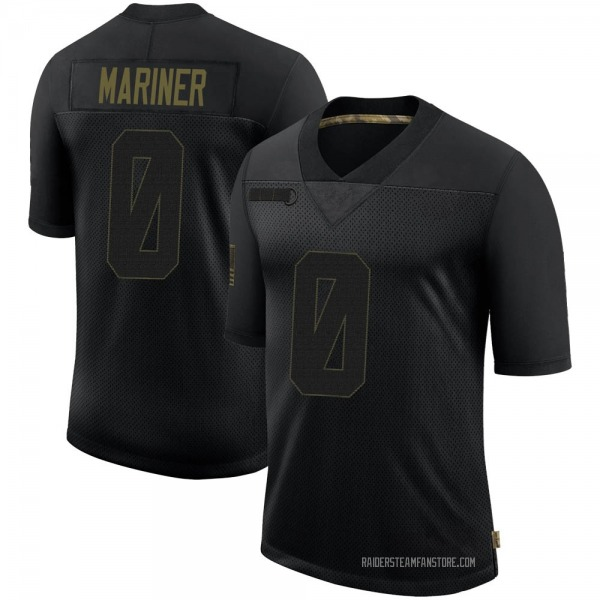 Youth Siaosi Mariner Las Vegas Raiders Limited Black 2020 Salute To Service Jersey